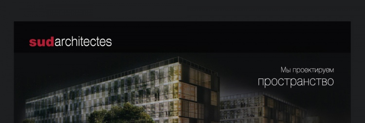 Сайт филиала компании «SudArchitectes» в Украине